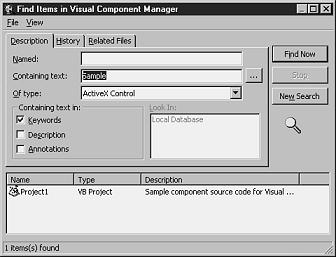 Finding and Reusing Components With Visual Component Manager (VCM)
