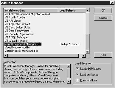 Making Visual Component Manager (VCM) Available in the VB IDE